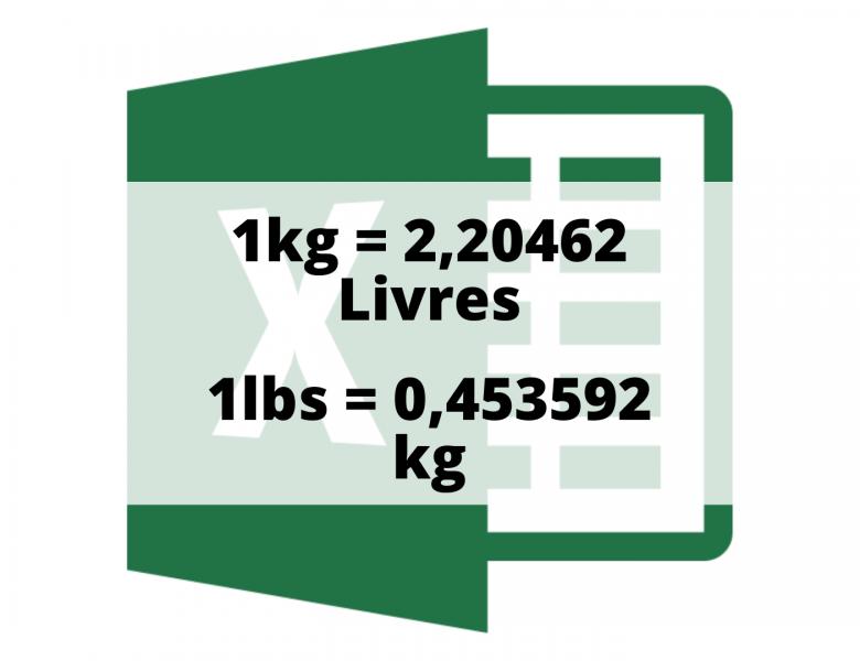Convertisseur et conversion de Kg en lbs et de lbs en kg sur Excel